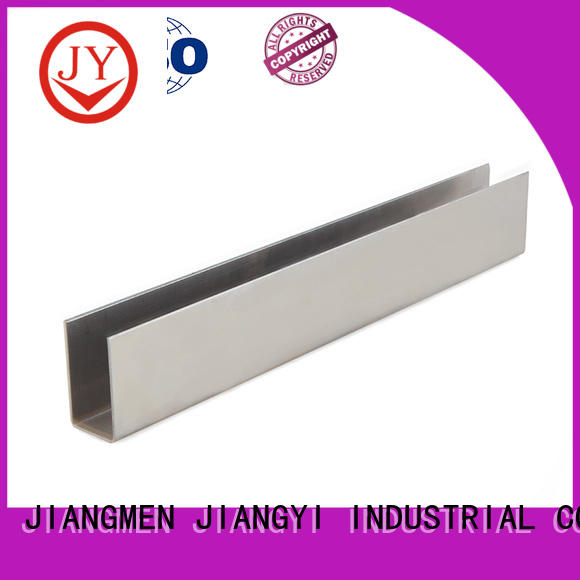 JY aluminum channel sizes factory for Glass products