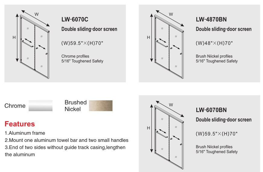 product-Frame Sliding Door Accessories with Tempered Glass-JY-img