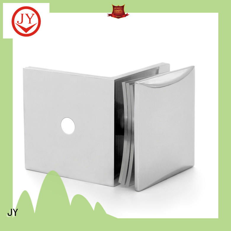JY High-quality materials glass door retainer clips factory for Hotel Shower Room