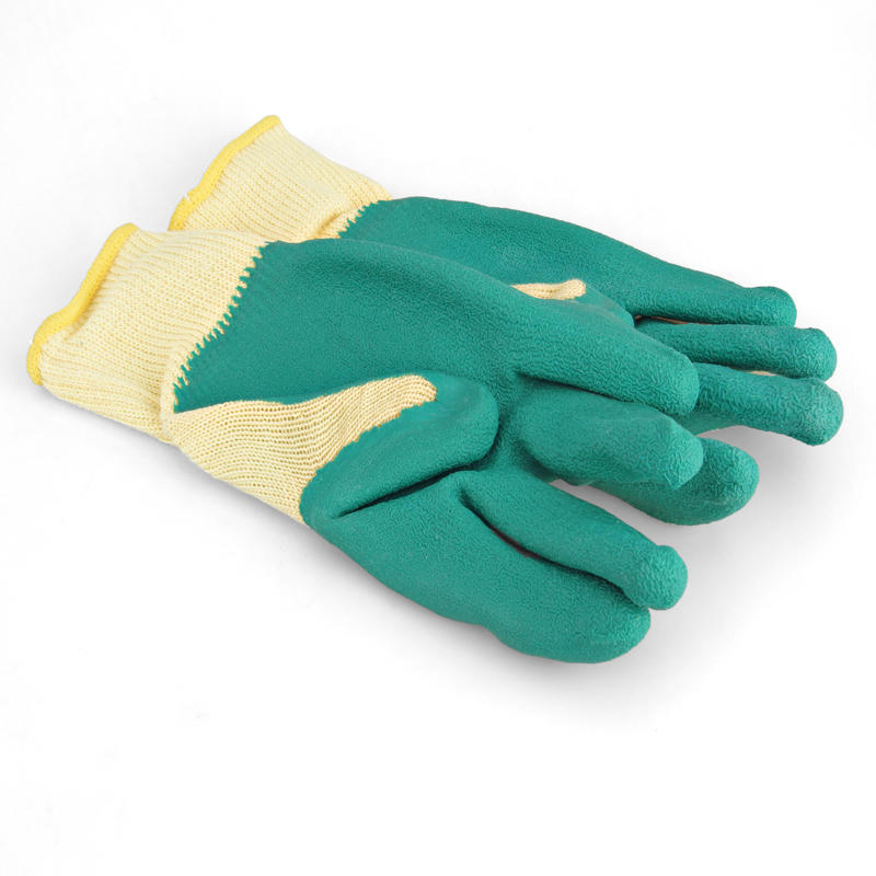 Glass handling tools non-skid garden grip latex coated glass safety glove GGL-G