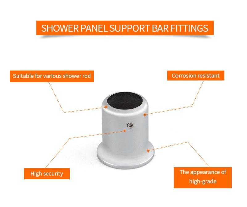 product-JY Wall Tube Shower Panel Support Bar Fittings KA-07-JY-img