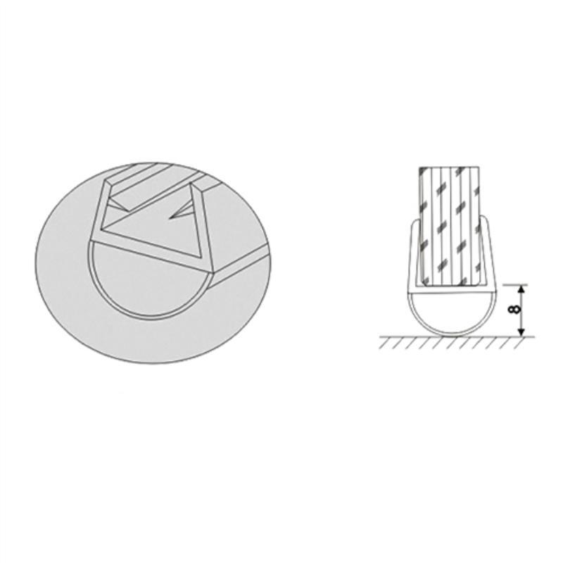 Shower glass door rubber seal strip TSS-11