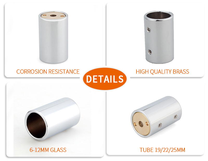 product-Glass Shower Screen Tube Connector Support Bar Fitting KA-07-25-JY-img