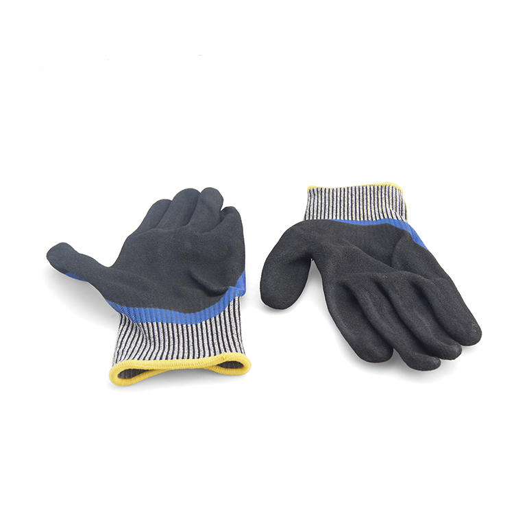 Glass safety glove with PU palm coated GGL-B