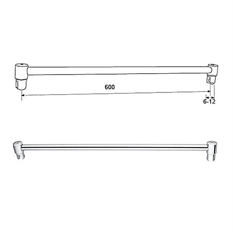 Shower Curtain Rod Glass Screen Connect Bar KA-103