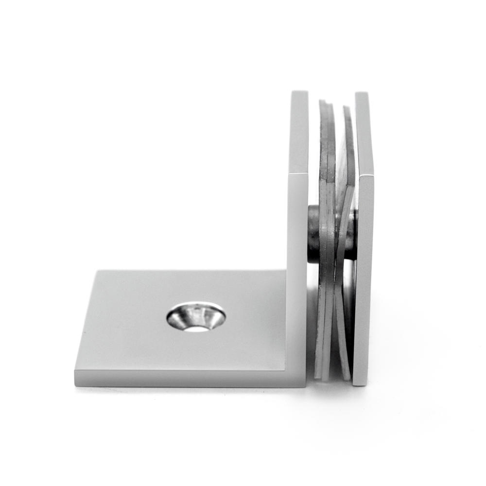 Square Edges Shower Door Glass Clips GC-7-90BS