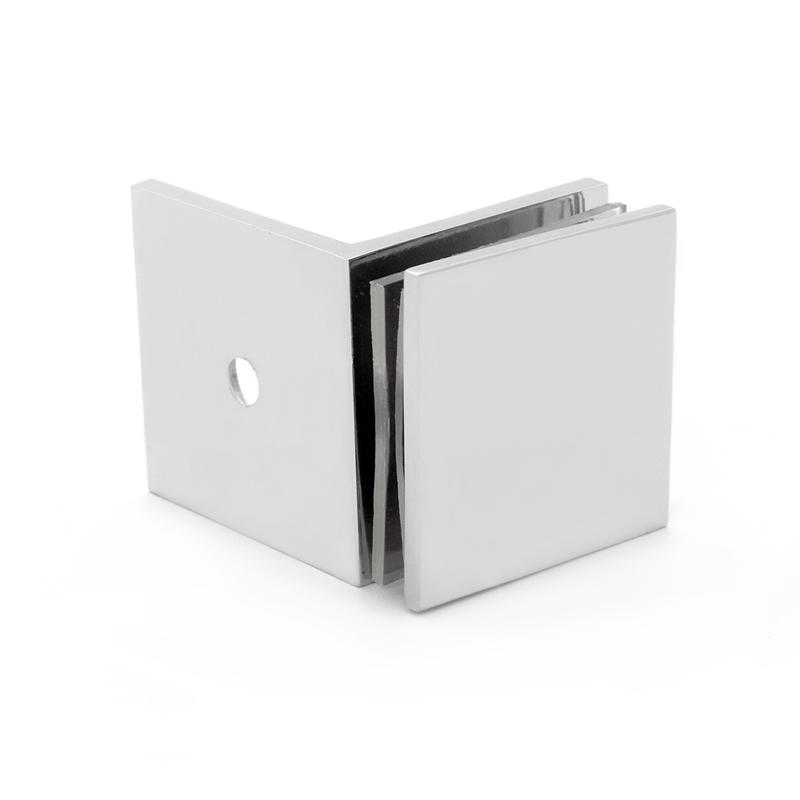 Square Edges Shower Door Glass Clips GC-7-90BS