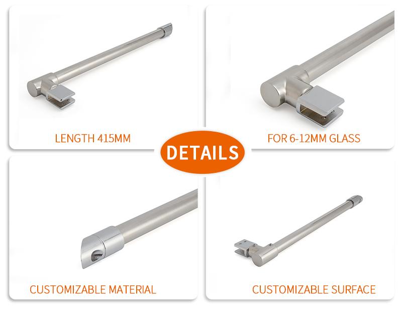product-Wall to Glass Shower Screen Support Bar Bracket KA-93-JY-img