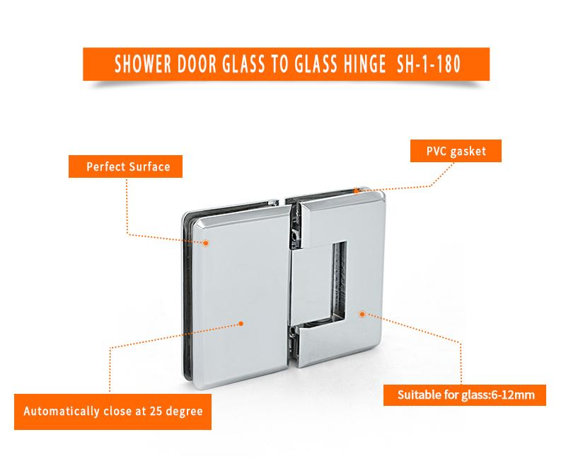 product-180 degree glass door brass Shower room hardware hinge SH-1-180-JY-img