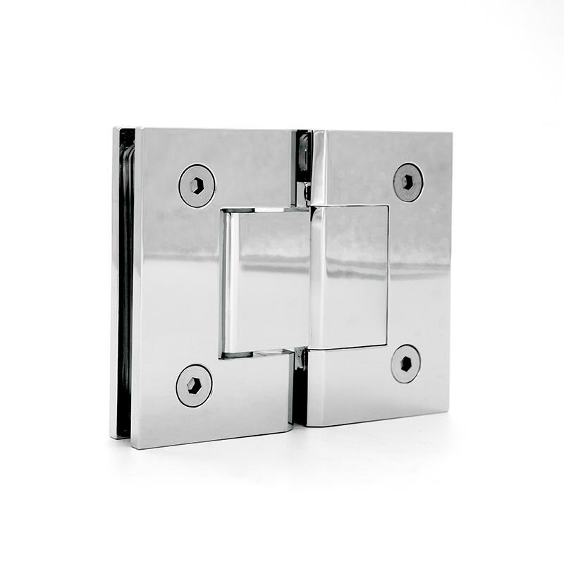 glass door hinge brass shower hinge D square cutouts SH-2-180