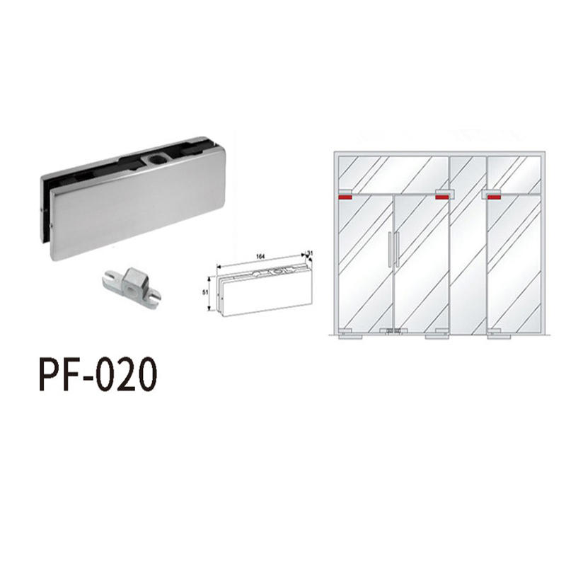 Top Door Patch Fitting For Glass Swing Door PF-020