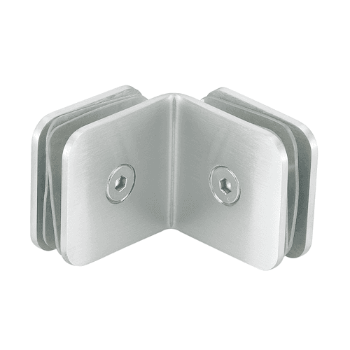 Solid Plate Shower Door Glass Clips GC-2-90AS
