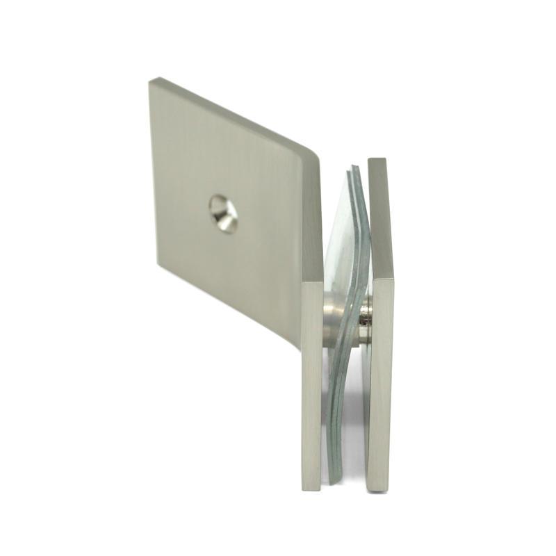 Nickel Brushed 135 Degree Shower Door Glass Clips GC-7-135BS SNP