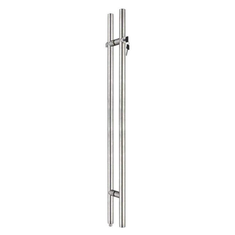 Glass Door Pulls and Handles Long Handle Lock  HDL-06