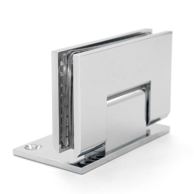 Bevel edge wall mount brass shower hinge SH-2-T2