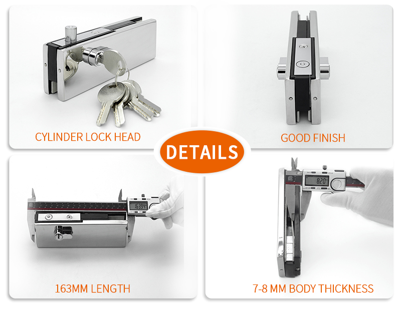 product-Bottom Lock Patch Fitting With Cylinder Lock Head PF-052D-JY-img