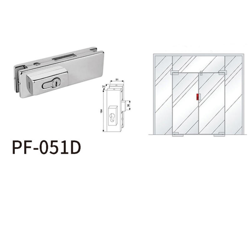 Center Lock Patch Fitting With Rectangular Lock head PF-051D