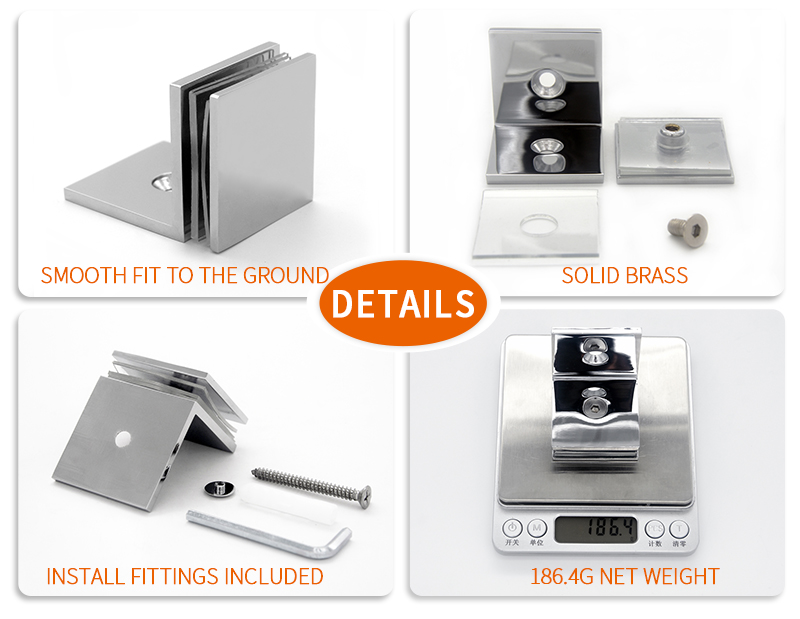 product-Square Edges Shower Door Glass Clips GC-7-90BS-JY-img
