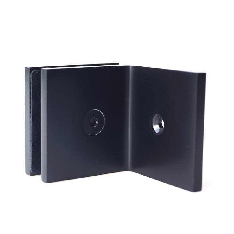 Black Shower Door Glass Clips GC-7-90BS ORB