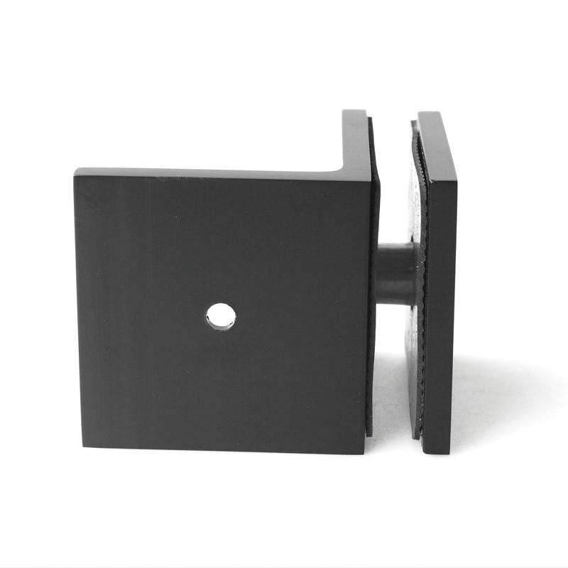 Black Shower Door Glass Clips GC-7-90BS ORB