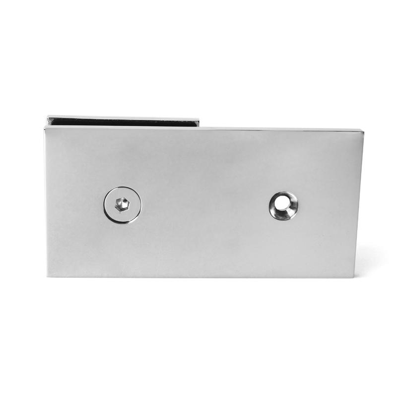 180 Degree Wall to Glass Shower Door Glass Clips GC-7-180BS