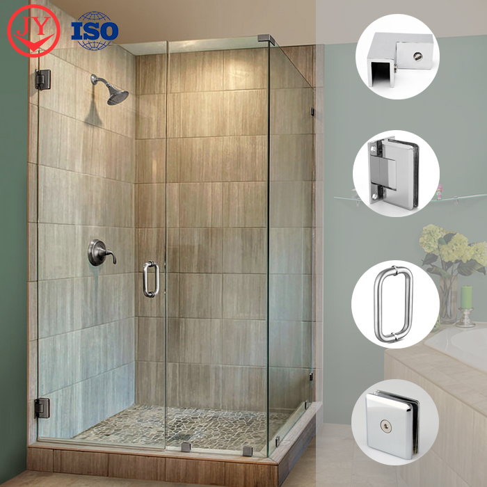 product-Solid Brass Sleeve Over Shower Door Glass Clip GC-90L-JY-img