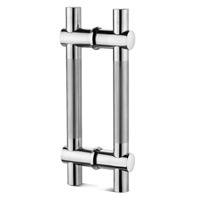 Middle Satin H Type Glass Door Pulls Handles GDH-002A