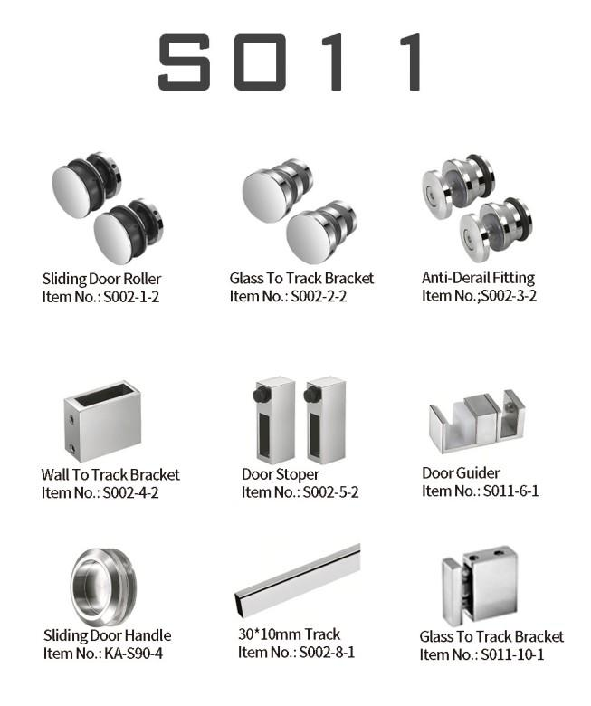 90 Degree Glass Sliding Shower Door Stainless Steel 304 KA-S011
