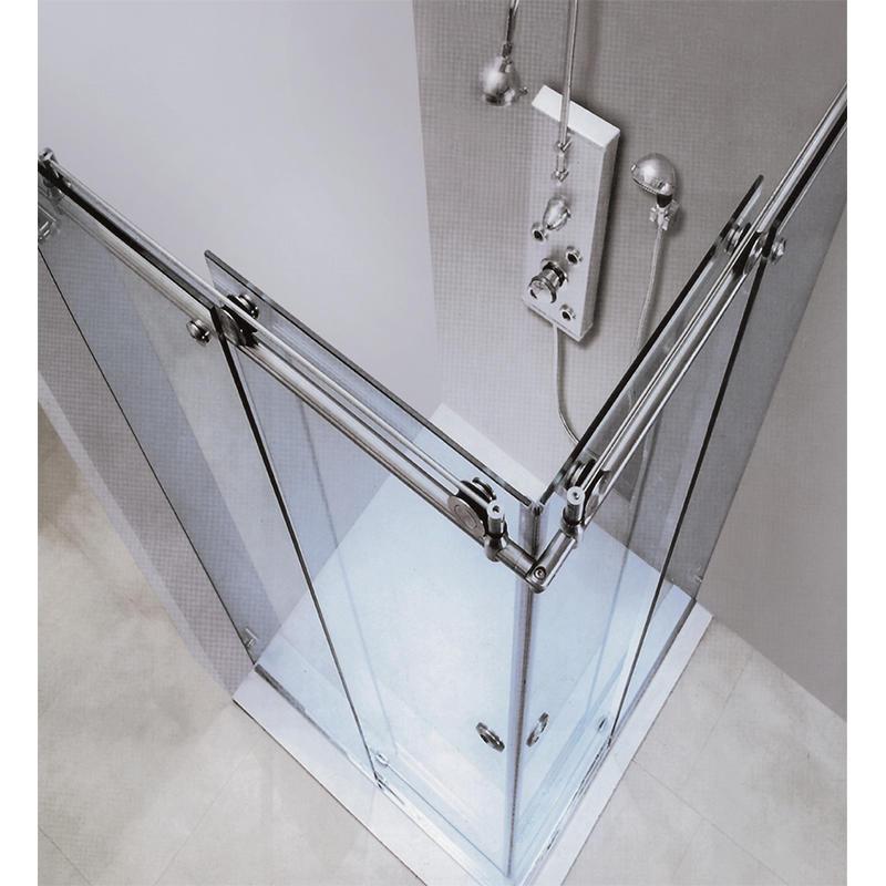 90 degree Bathroom Sliding Glass Door Stainless Steel 304 KA-S005