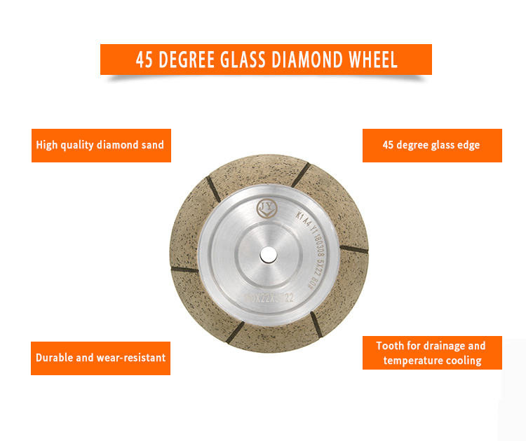 product-45 degree rough diamond grinding wheel for shape edging machine AC-M45-JY-img