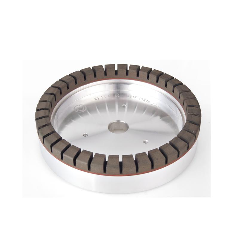 Full segmented glass resin wheel for straight line edging machine EQ