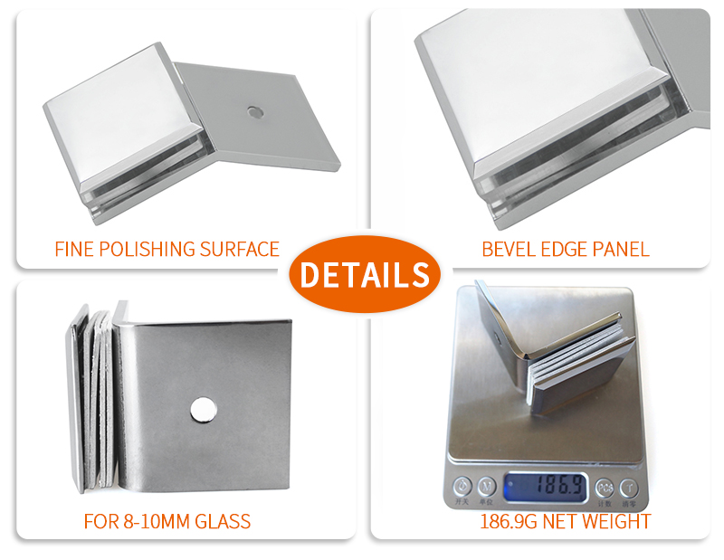 product-135 Degree Wall Mount Shower Door Glass Clip GC-135CD-JY-img