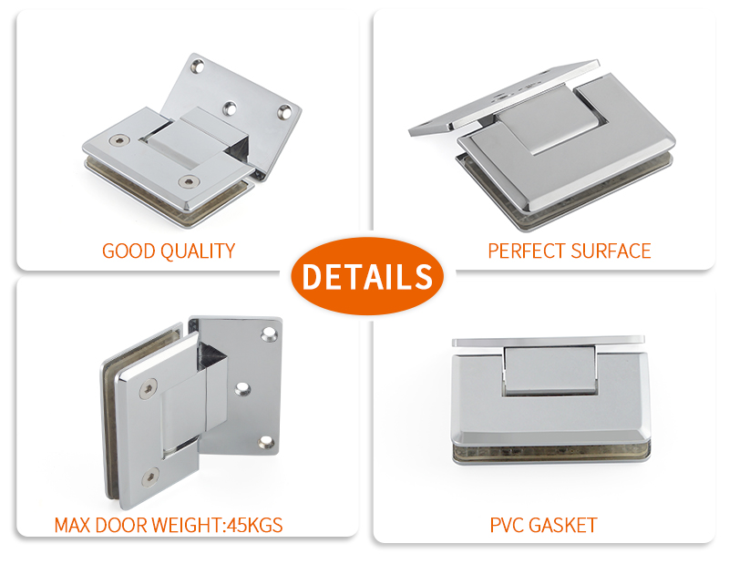 product-Top Quality Stainless Steel Wall To Glass Shower Hinge SH-1-135A-JY-img