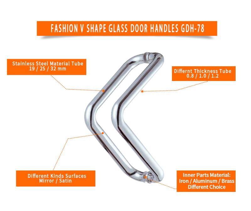 product-Office Glass Door V Shape Pulls Handles GDH-78-JY-img