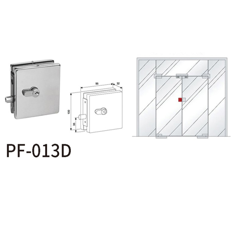 product-Center Patch Lock With Cylinder Lock Head PF-013D-JY-img