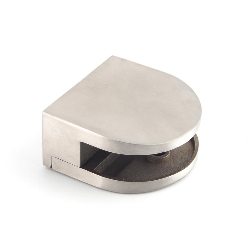 D Shape Stainless Steel Handrail Glass Clip GC-012F