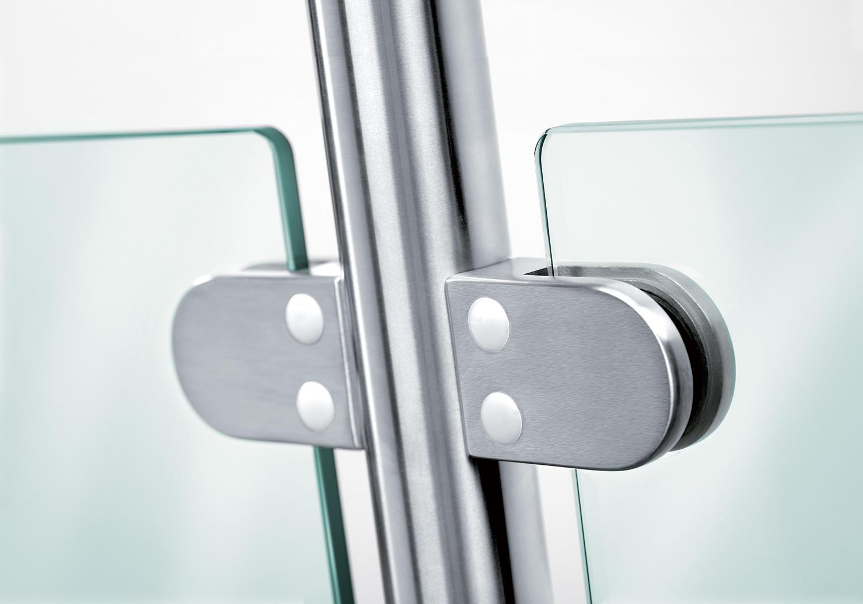 handrail clip glass railing clamps flat JY Brand