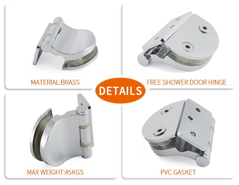 product-Hinge glass shower door solid brass pivot hinge SH-7-15-JY-img
