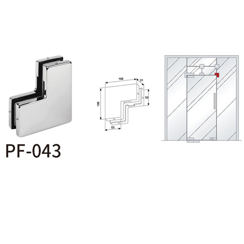 product-Small L Shape Glass Door Patch Fitting PF-043-JY-img