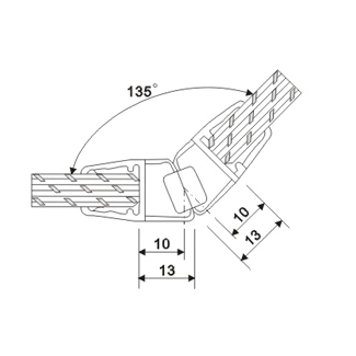 product-135 Degree White Mangetic Shower Door Sweep TSS-MP8-JY-img
