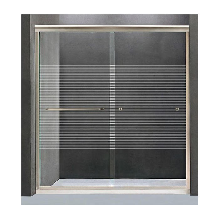 Frame Sliding Door Accessories Tempered Glass with Horizontal Printing