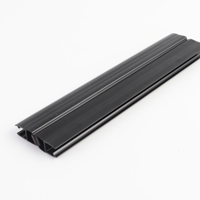 180 Degree Glass to Glass Shower Door Seal with Magnetic Polished Black