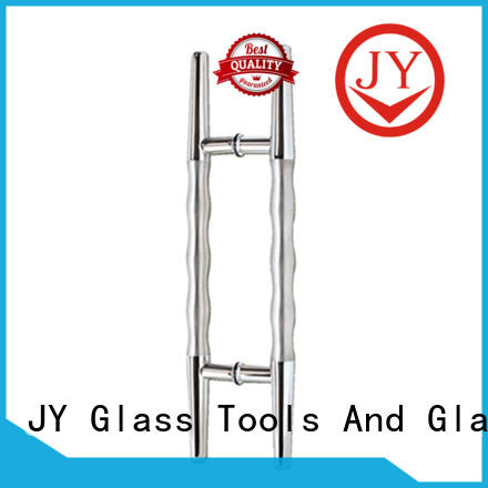 JY glass door pull handles manufacturer for store front