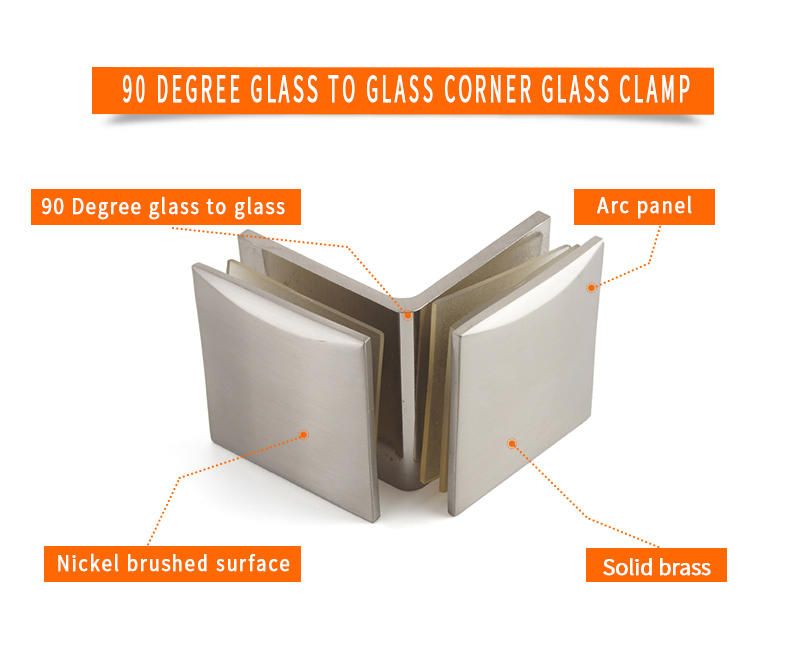 JY safe glass clamps and supports Exporter for Bath Screens-2