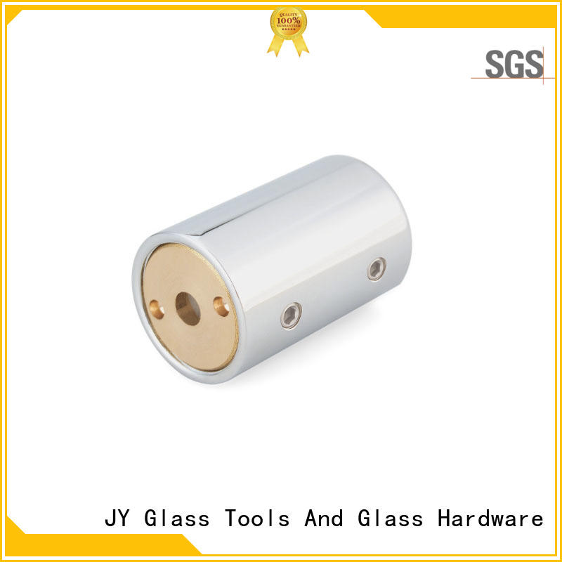 shower glass panel support bar
