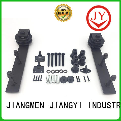 JY double sliding barn door hardware factory for Glass products