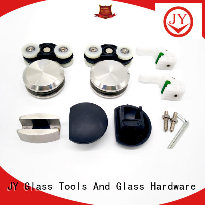 JY custom made interior sliding door hardware Exporter for Glass product