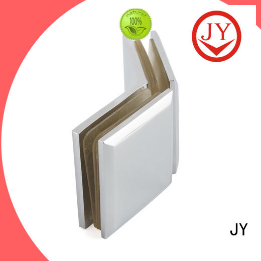 JY glass door retainer clips China for Hotel Shower Room