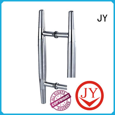 JY wide range of application frameless shower door handle supplier for offices