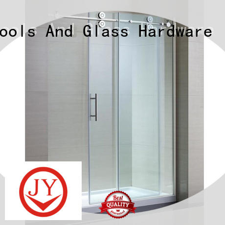 JY small sliding door hardware supplier for Glass product